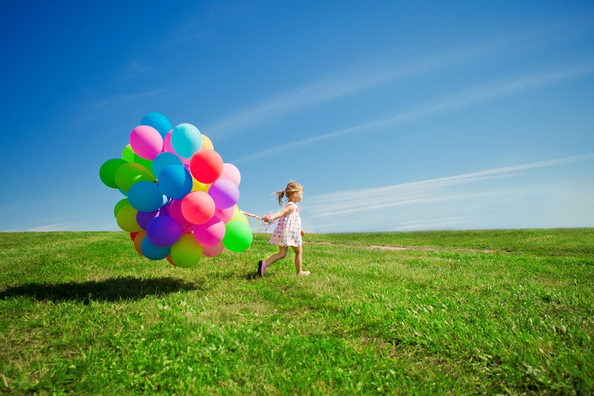 How To Be More Positive - Dr. Jamie Long (girl with balloons)